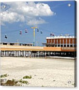 Daytona Beach Pier Pano Acrylic Print