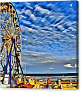 Daytona Ferris Wheel Acrylic Print