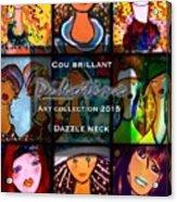 Dazzle Neck Art Collection Acrylic Print