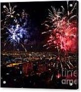Dazzling Fireworks II Acrylic Print by Ray Warren