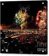 Dazzling Fireworks Iv Acrylic Print