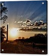 Dc Monument Sunset Acrylic Print