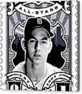 Dcla Al Kaline Detroit All-stars Finest Stamp Art Acrylic Print by David Cook Los Angeles