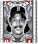 Dcla Jim Rice Fenway's Finest Stamp Art Acrylic Print by David Cook Los Angeles