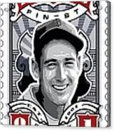 Dcla Ted Williams Fenway's Finest Stamp Art Acrylic Print by David Cook Los Angeles