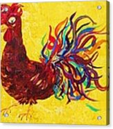 De Colores Rooster Acrylic Print