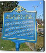 De-kc81 Site Of Duck Creek Presbyterian Church Acrylic Print