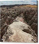 Dead End Trail In Badland National Park South Dakota Acrylic Print