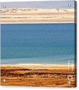 Dead Sea Shoreline In Jordan Acrylic Print