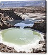 Dead Sea Sinkholes  Acrylic Print