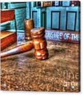 Dealing Justice Acrylic Print