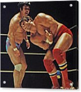 Dean Ho Vs Don Muraco In Old School Wrestling From The Cow Palace Acrylic Print