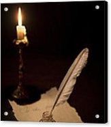 Dear Diary... Acrylic Print