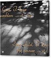Dear God Acrylic Print