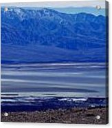 Death Valley National Park Overview Of Badwater Basin Acrylic Print