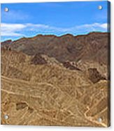 Death Valley Np Zabransky Point  Acrylic Print