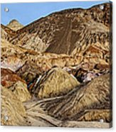Death Valley Painted Mountains Acrylic Print