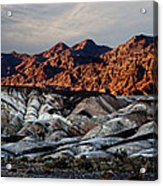 Death Valley Painted Rock Acrylic Print