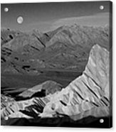 Death Valley Zabriskie Point Bw Img 0525psd Acrylic Print