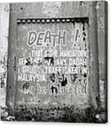 Death Warning Acrylic Print