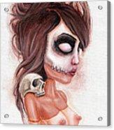 Deathlike Skull Impression Acrylic Print