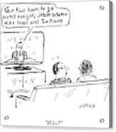 Debate Between Mike Pence And Tim Kaine Acrylic Print