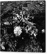 Debbie C's Grave American Flag Evergreen Cemetery Tucson Arizona 1991 Acrylic Print