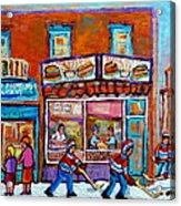 Decarie Hot Dog Restaurant Ville St. Laurent Montreal  Acrylic Print