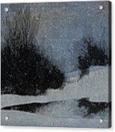 December Dusk Acrylic Print
