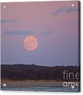 December Moon Acrylic Print