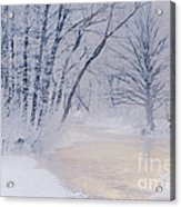 December Riverscape Acrylic Print