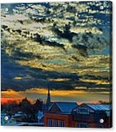 December Sunrise In Annapolis Acrylic Print