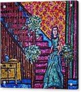 Decending Staircase Acrylic Print by Linda Vaughon