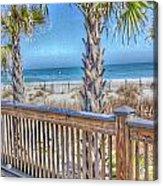 Deck On The Beach Acrylic Print