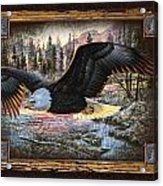 Deco Eagle Acrylic Print by JQ Licensing