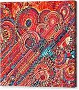 Deco Flower Swirls Acrylic Print