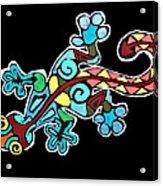 Deco Gecko Acrylic Print