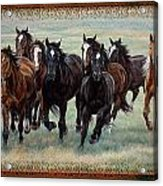 Deco Horses Acrylic Print by JQ Licensing