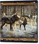 Deco Wolves Acrylic Print by JQ Licensing