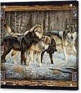 Deco Wolves Acrylic Print