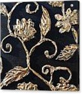 Decor Black And Gold Acrylic Print by Lori McPhee