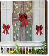 Decorated Christmas Window Key West Acrylic Print