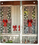 Decorated Christmas Windows Key West - Hdr Style Acrylic Print