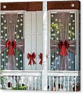Decorated Christmas Windows Key West  Acrylic Print