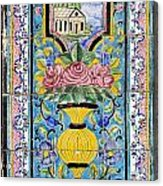 Decorated Tile Work At The Golestan Palace In Tehran Iran Acrylic Print