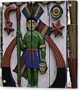 Decoration On Wooden Door In Lansdowne Acrylic Print