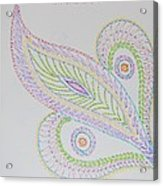 Decorative Leaf Acrylic Print