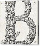 Decorative Letter Type B 1650 Acrylic Print