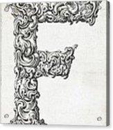 Decorative Letter Type F 1650 Acrylic Print