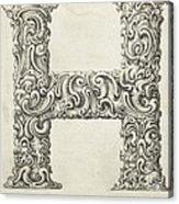 Decorative Letter Type H 1650 Acrylic Print